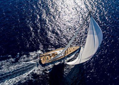 Шикарная парусная яхта Nautor's Swan 35 метров