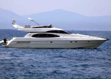 Моторная яхта Азимут в Хорватии 17 метров