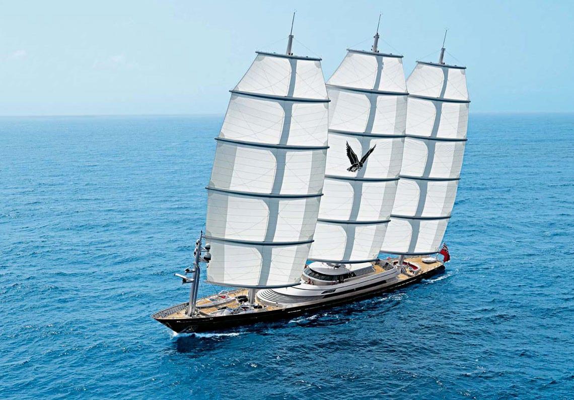 Дорогая большая парусная яхта Мальтийский Сокол от PERI YACHTS