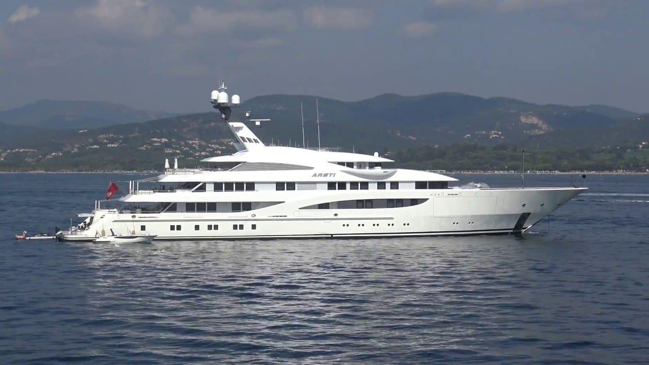 Чартерная моторная мега яхта ARETI от Люрссен 120 метров