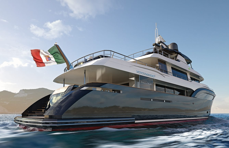 Эксклюзивная супер яхта Мондомарин 40 метров