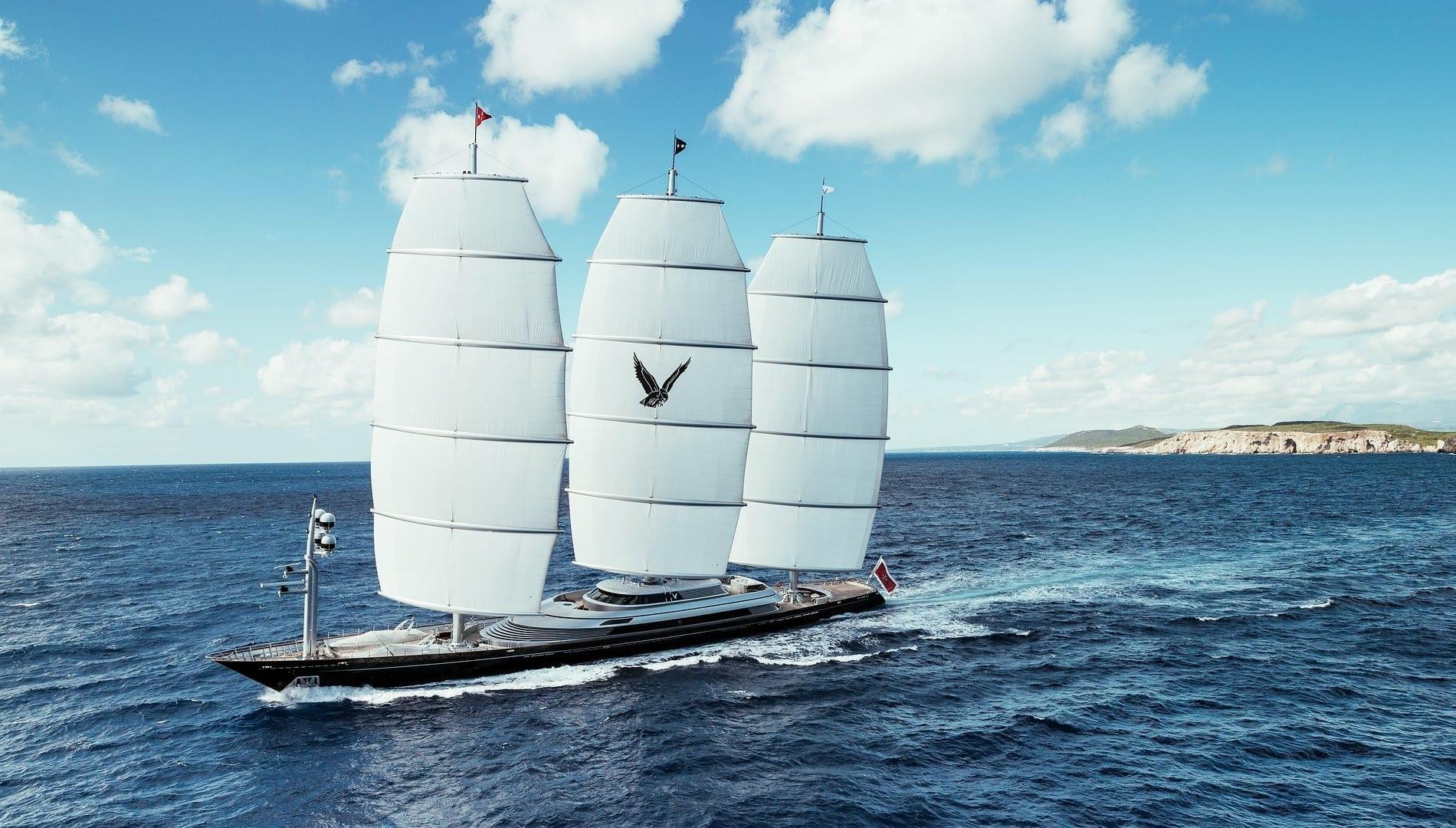 Шикарная парусная мегаяхта Мальтийский Сокол 88 метров PERI YACHTS