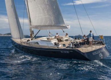 Чартерная парусная суперяхта Nautor's Swan 35 метров на Средиземном море