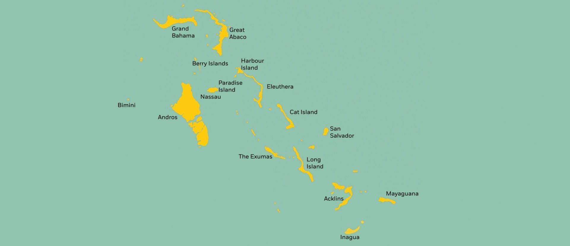 Карибы карта для круиза на роскошной яхте