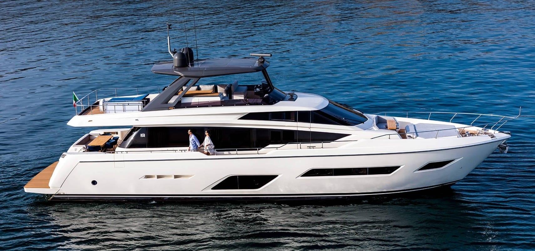 моторная яхта Feretti 24 метра на Адриатике