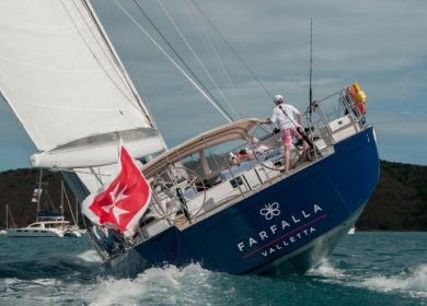 Больная парусная суперяхта SOUTHERN WIND 32 метра на Средиземном море