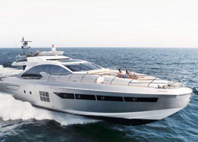 Моторная яхта Азимут 23 метра на Средиземке