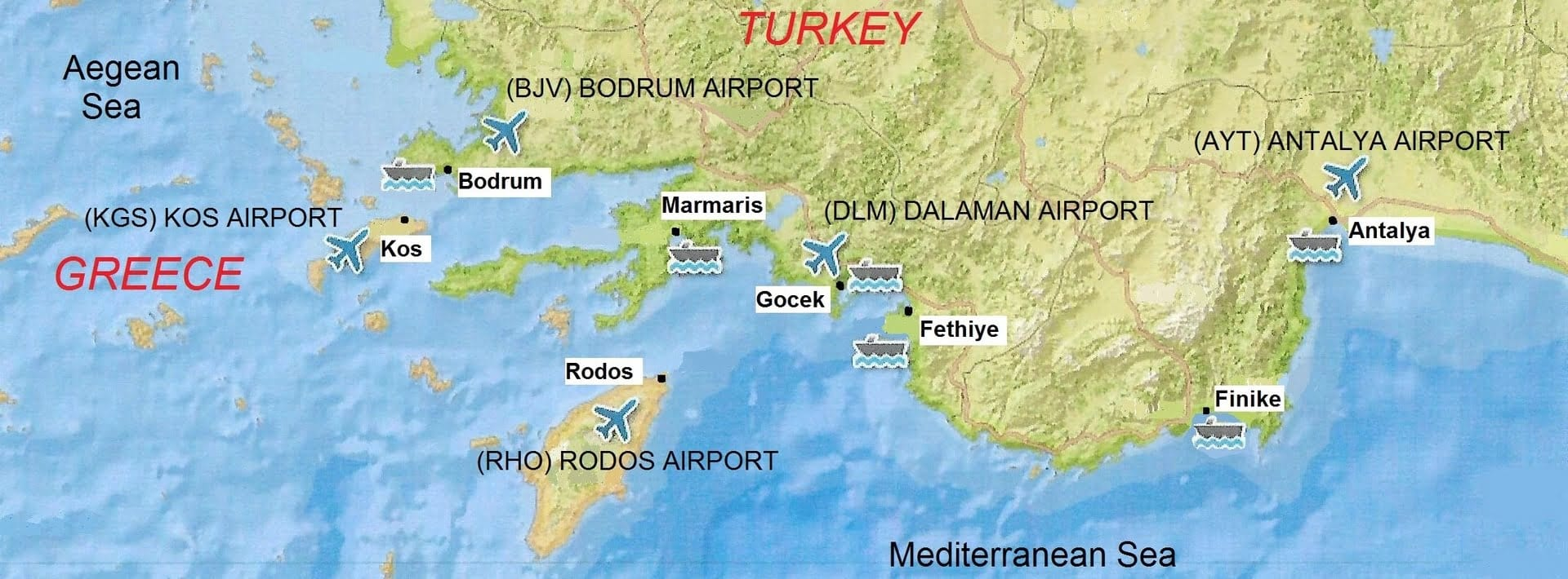 круиз на моторной яхте по Турции